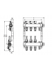 Коллектор стальной для поверхностного отопления с соед. push-fit тип TECElogo в сборе Тип: 10 конт.