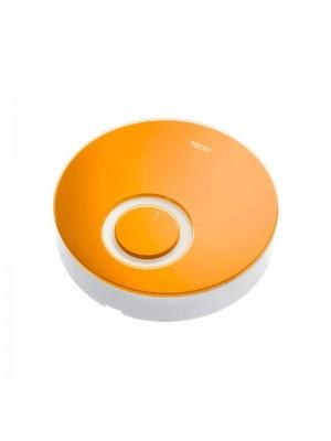 Дизайнерская панель комнатного термостата DT стекло оранжевое, корпус белый